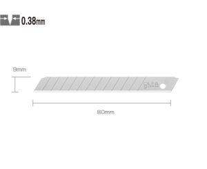 OLFA AB-10 Standart Dar Maket Bıçağı Yedeği (10 lu)