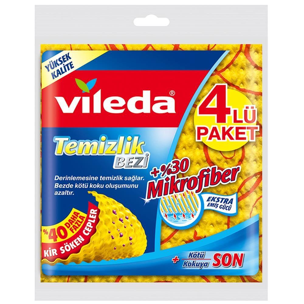 Vileda Mikrofiber Temizlik Bezi 4lü Paket